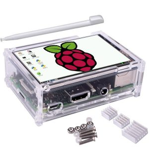 3.5 inch TFT LCD Touch Screen + Protective Case + Heatsink+ Touch Pen Kit For Raspberry Pi 3/2/3 Model B/3 Model B+