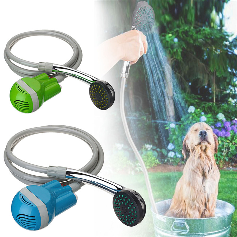 Handheld Shower Outdoor USB Rechargeable Shower with Water Pump Built-in Battery