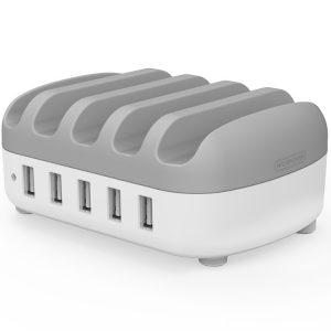 NUK-5P 5 Port USB Charger Desktop Dock Station
