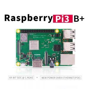 2018 new original Raspberry Pi 3 Model B+ (plug) Built-in Broadcom 1.4GHz quad-core 64 bit processor Wifi Bluetooth and USB Port