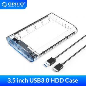 Hard Drive Box Enclosure 3.5″ HDD/SSD Sata to USB 3.0