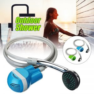 Portable outdoor shower water pump rechargeable